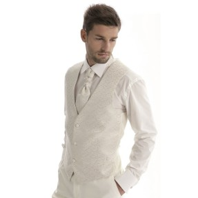 Gilet Victor ivoire, blanc ou or